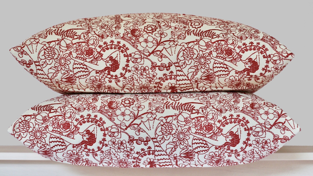 Mermaids textile on pillows
