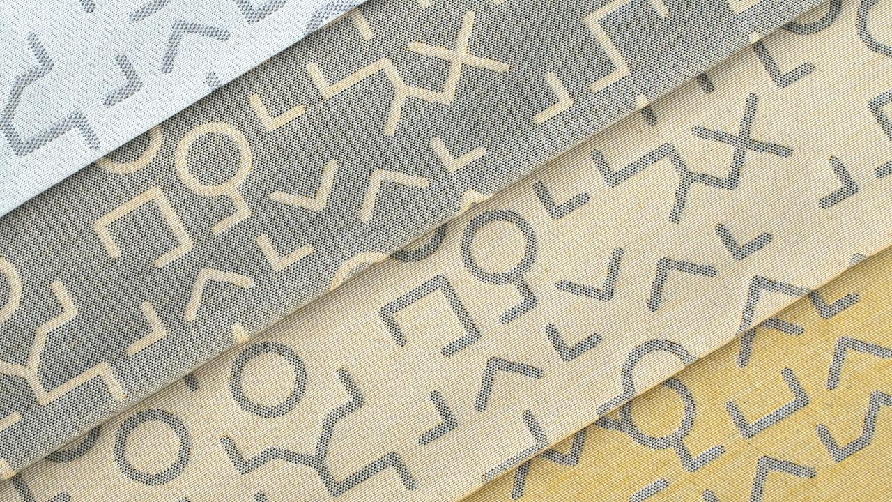 Glyph fabric in multiple colors